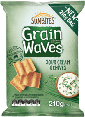 Grain Waves Sour Cream & Chives 210g