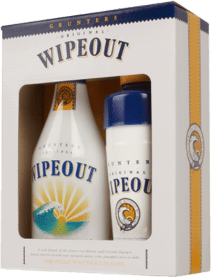 Grunters Wipeout Coconut Liqueur & Shaker Gift Pack 750mL
