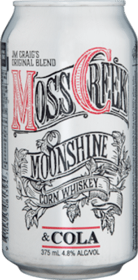 Moss Creek Moonshine Corn Whiskey & Cola Cans Single Malt