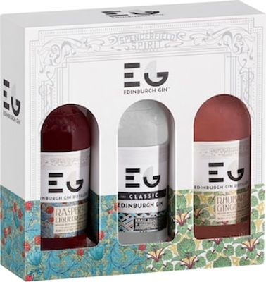 Edinburgh Gin Gift Pack 3 X 200ml