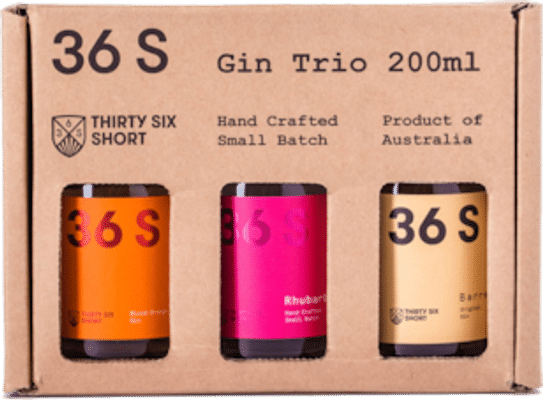36 Short Gin Trio 200mL