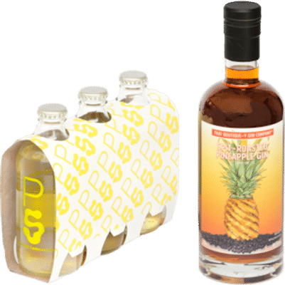 That Boutique-y Gin Company & PS Soda Spit Roasted Pineapple Gin 700mL & PS Soda Smoked Lemonade 330mL 3 Pack